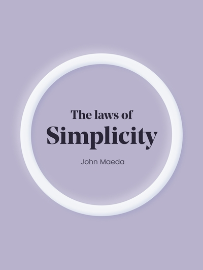 Book cover - The law of simplicity